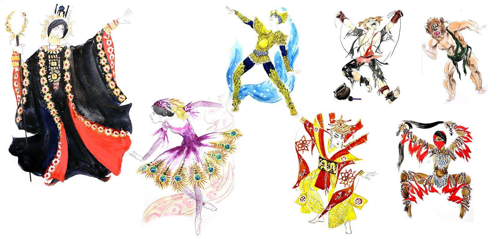 действующие лица балета Гульлала